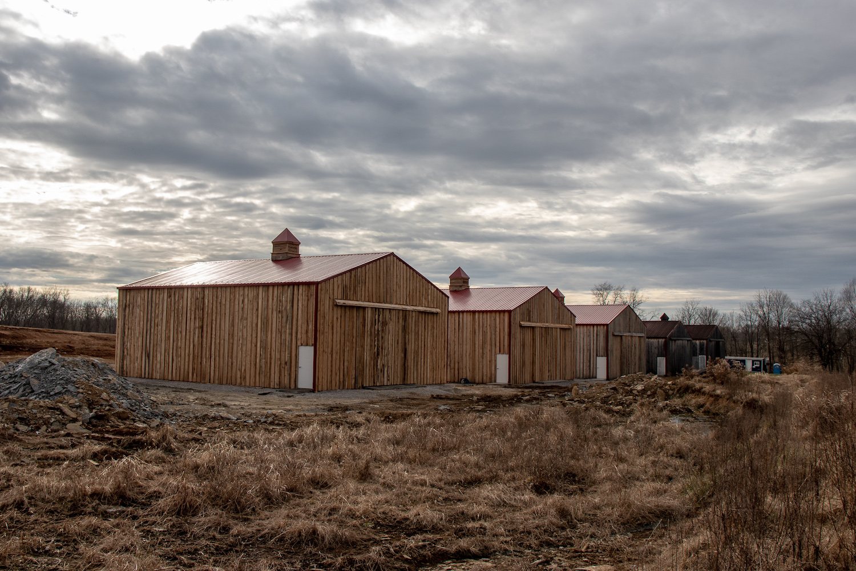 Jeptha Creed Distillery Barrel Barns (photo courtesy of Jeptha Creed Distillery)