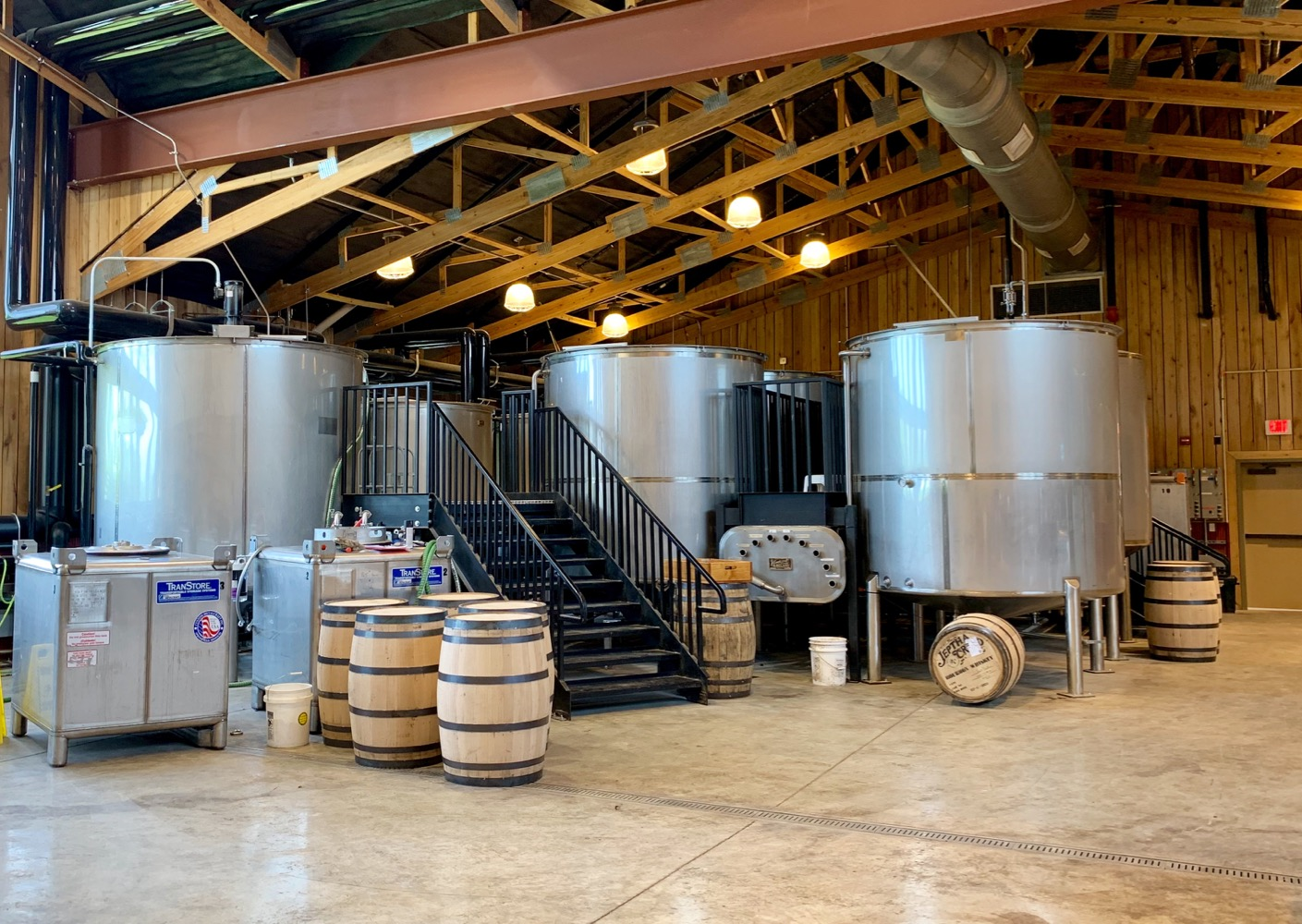 Jeptha Creed  Distillery Fermenters