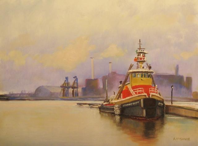 22. Tugboat Stephen Scott, 9x12 oil on panel