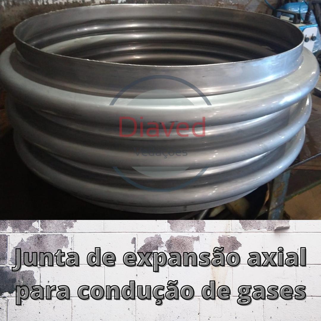 Junta de expansão axial para condução de gases