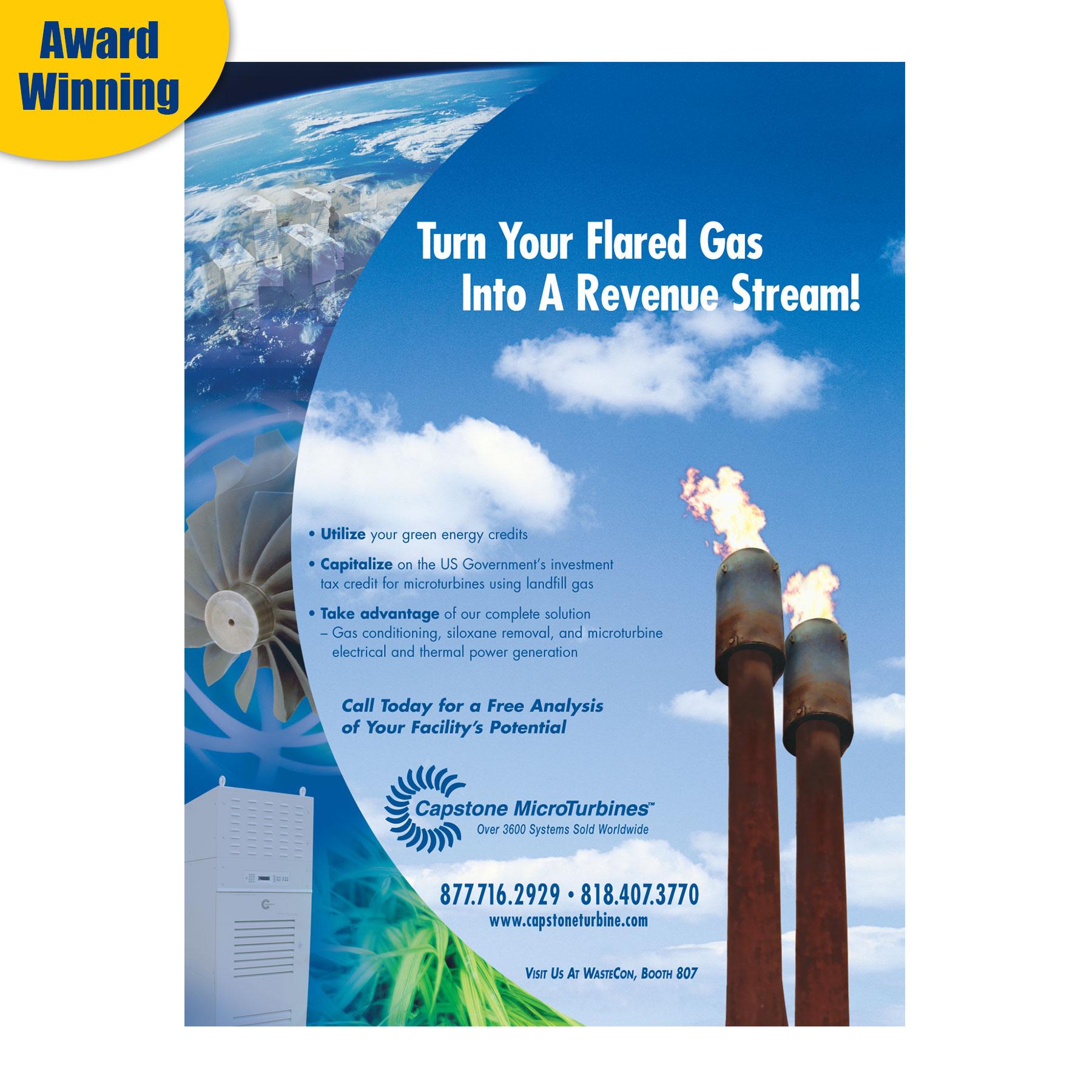 Capstone Turbine MSW Management Magazine Ad