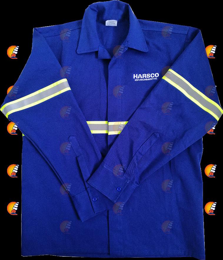 Camisola azul con reflejante en mangas