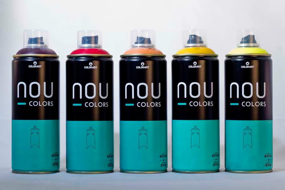 Tinta Spray Fosca para Graffiti e Pinturas em geral NOU COLORS - Colorart (SOB ENCOMENDA)
