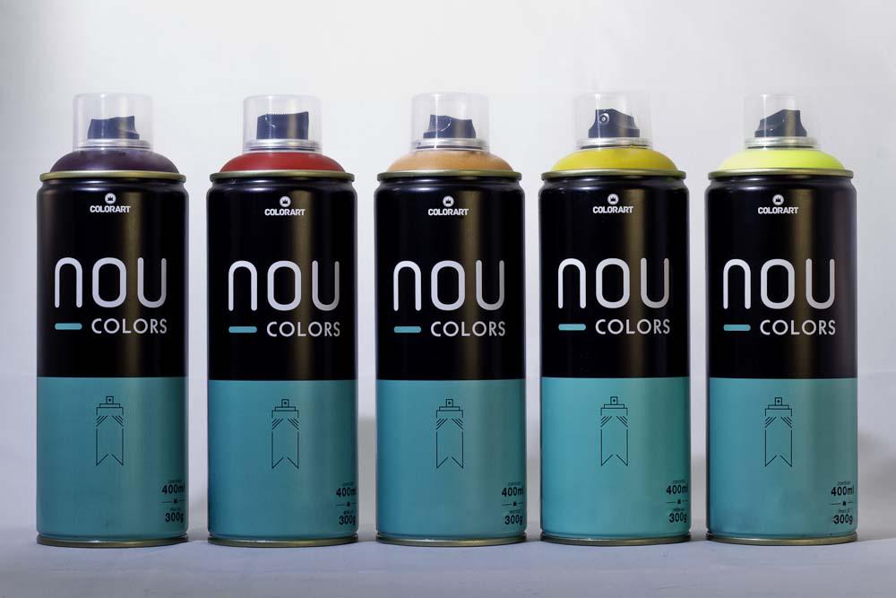 Tinta Spray Fosca para Graffiti e Pinturas em geral NOU COLORS - Colorart