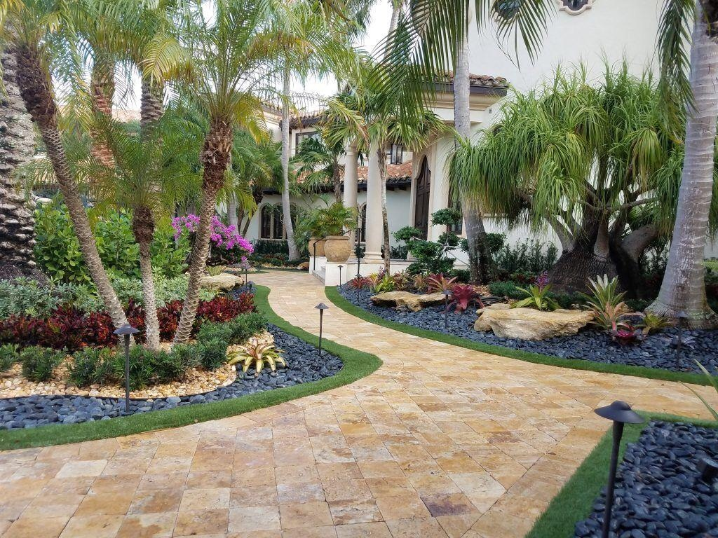 Paved Landscaped Garden