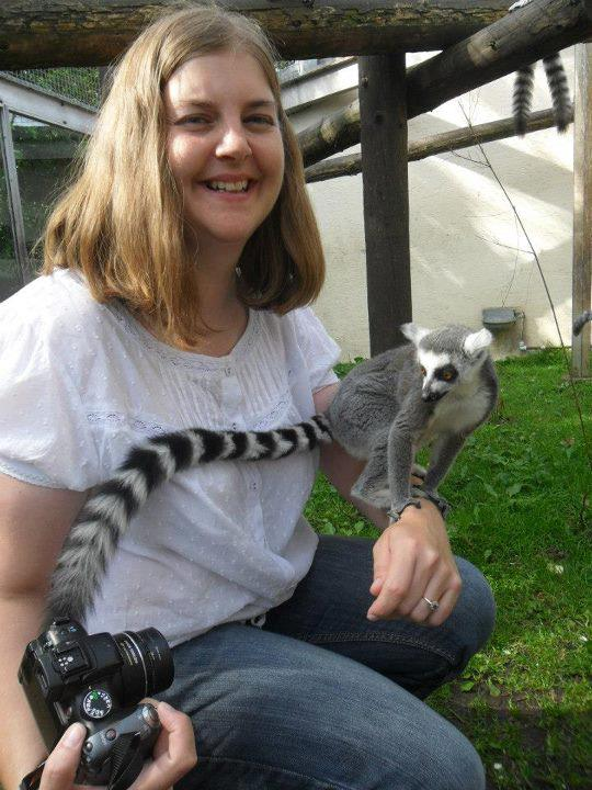 Susan Brownrigg with ring tailed lemur