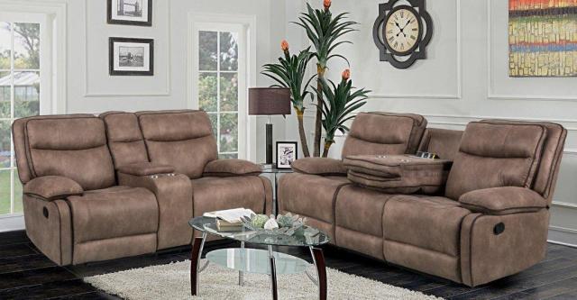 2260 Ballglov Badlands reclining sofa and loveseat