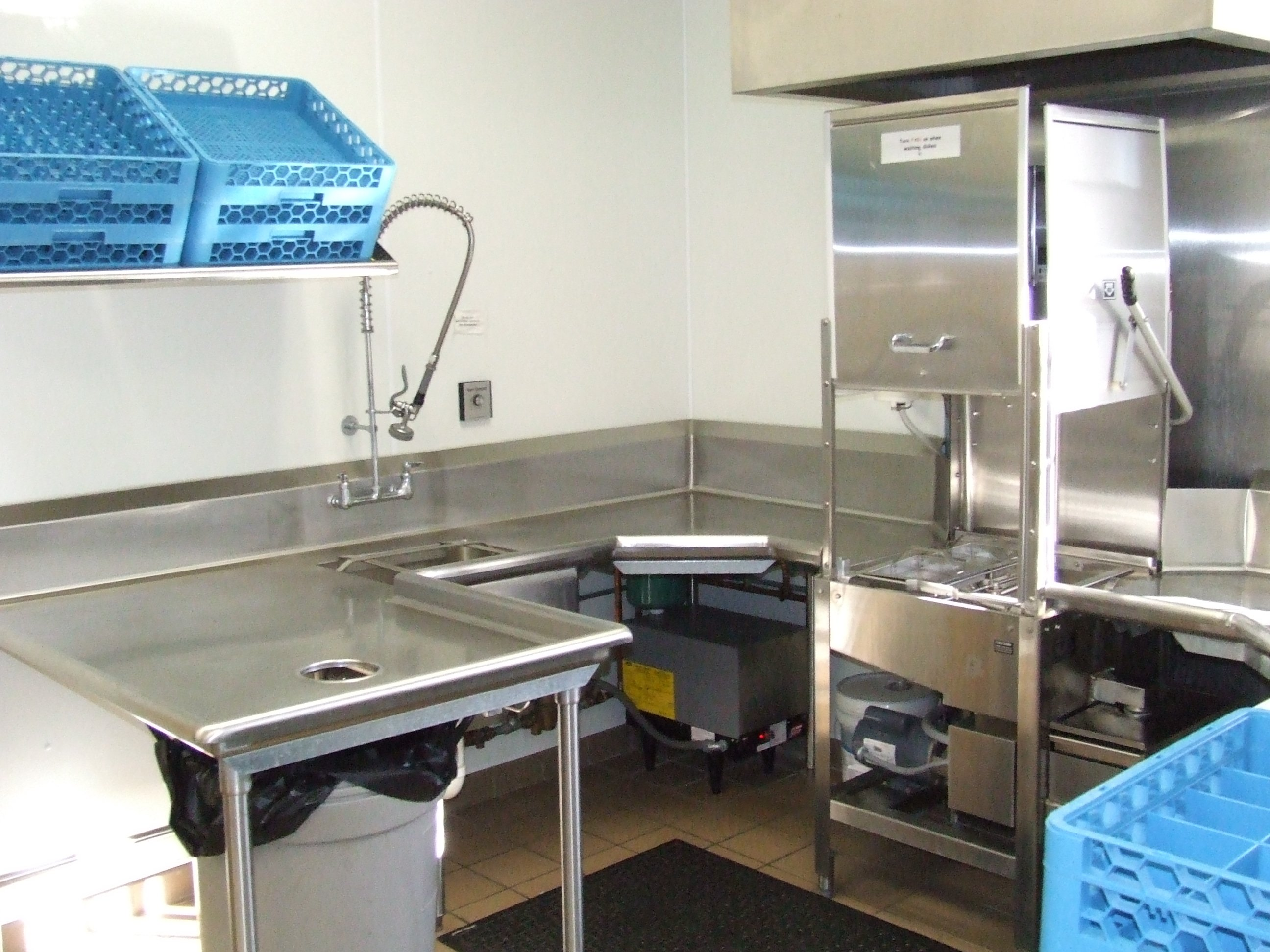 Kitchen - commercial dishwasher area