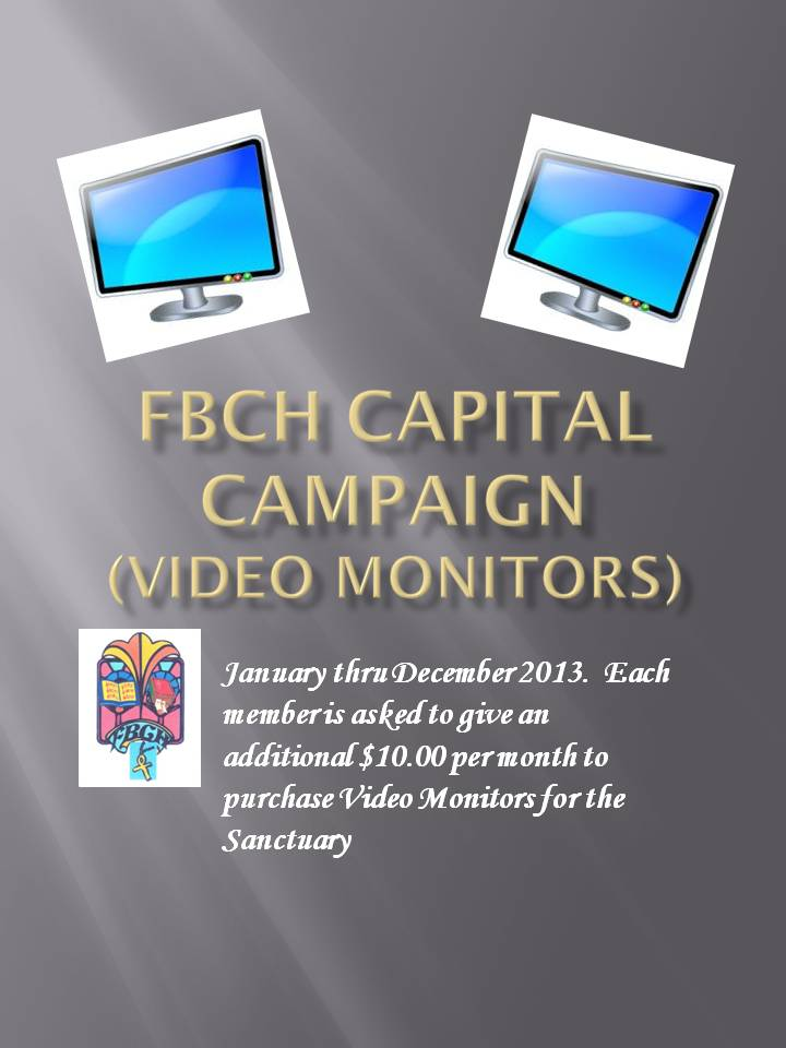 Help us buy video monitors||||