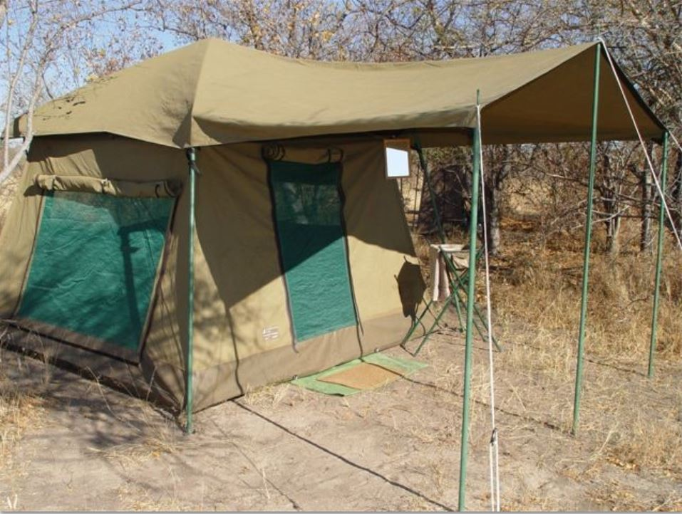 Mobile Safari (Different than a permanent tent camp experience), Outside View