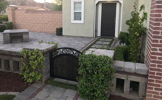 Paved Front Yard