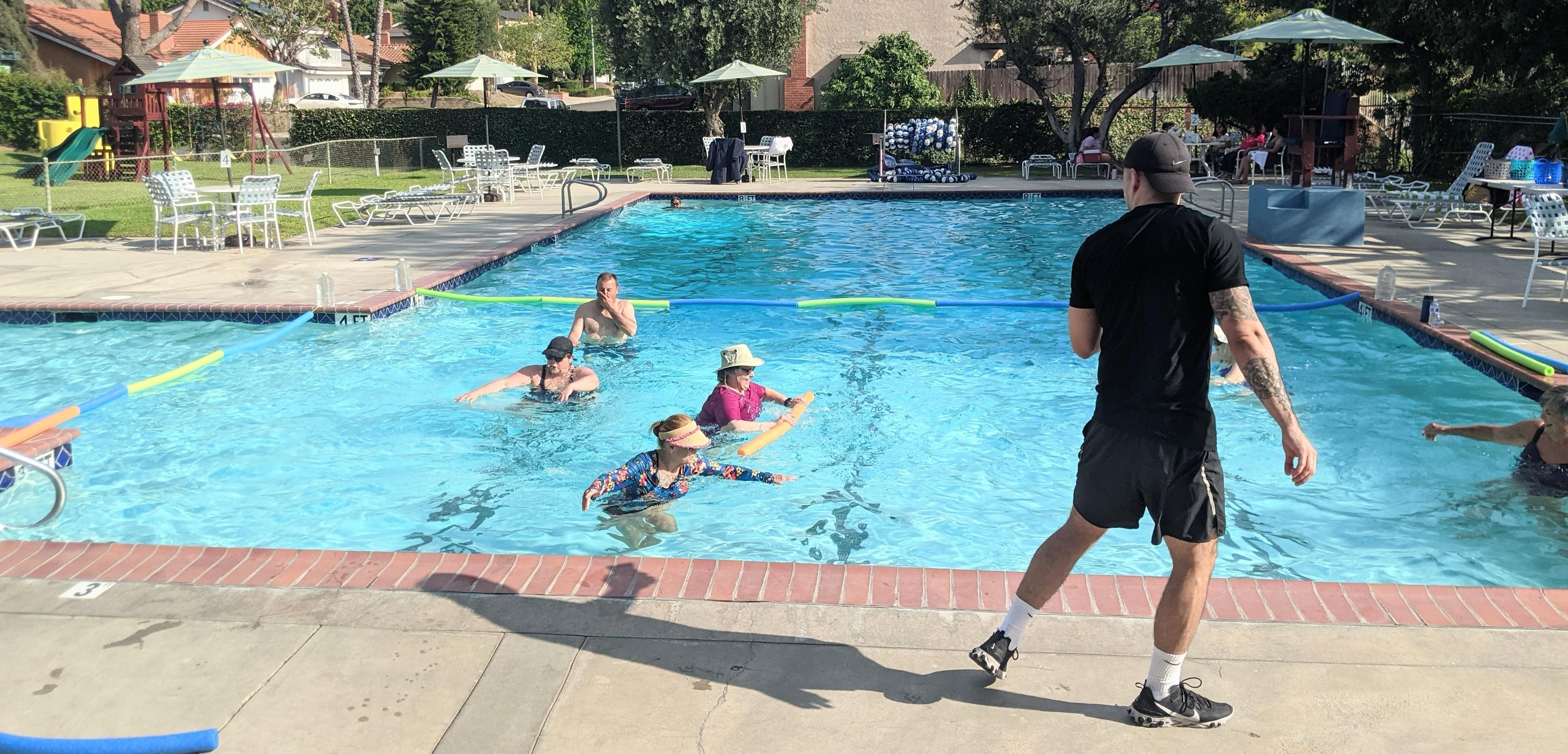 Adult Water Aerobics with Yamil Slim, Instructor