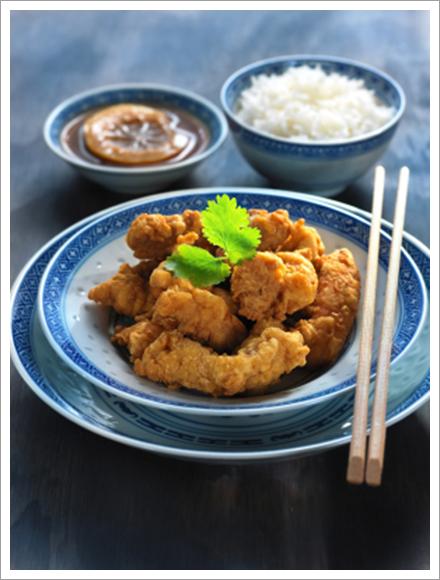 Chinese lemon chicken accompanied||||