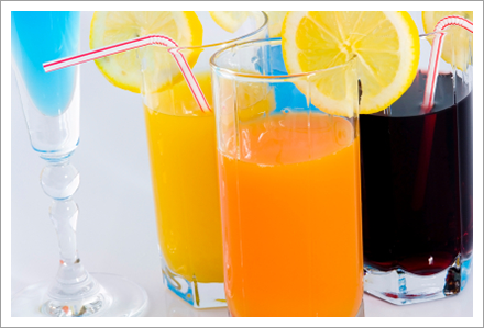 Different types of beverages    