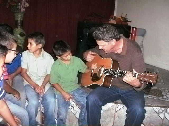 Music ministry with children in Pena Blanca, Honduras