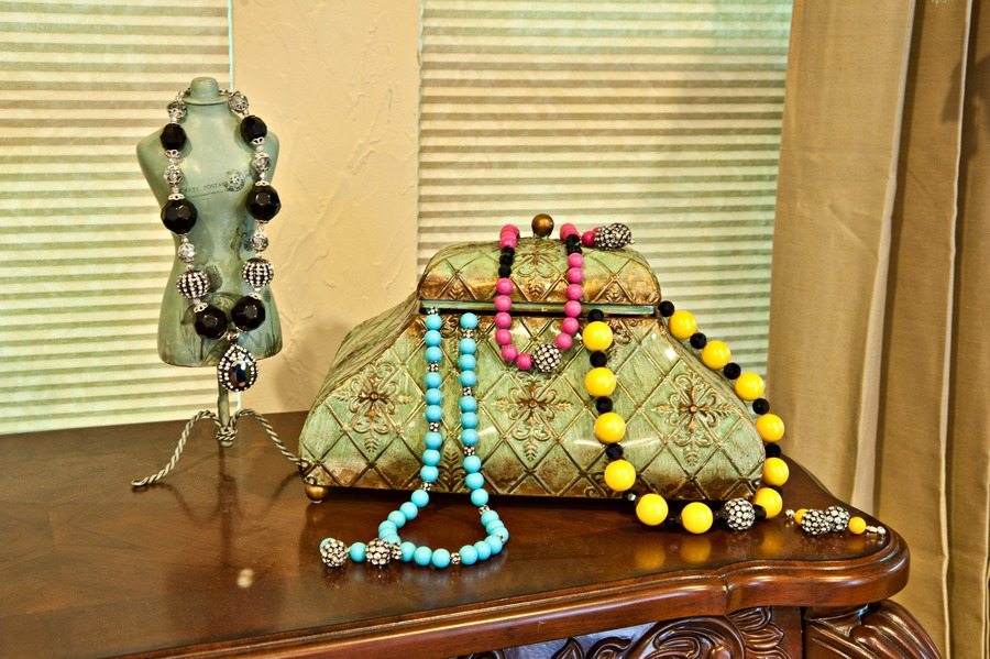 Display of Necklaces and Earrings||||
