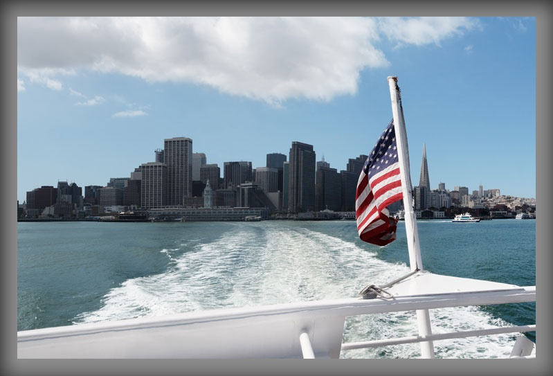 San Francisco Skyline as seen from a Boat