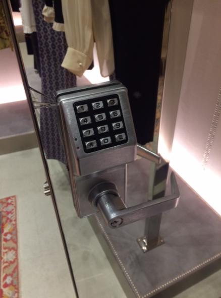 Silver Door Keypad