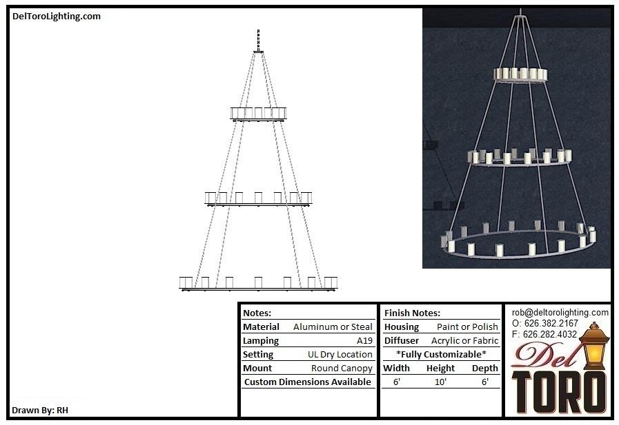 953P-Cylinder Ring Trio Pendant