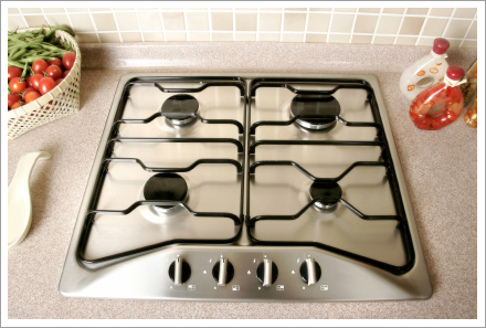 Stainless steel stove||||