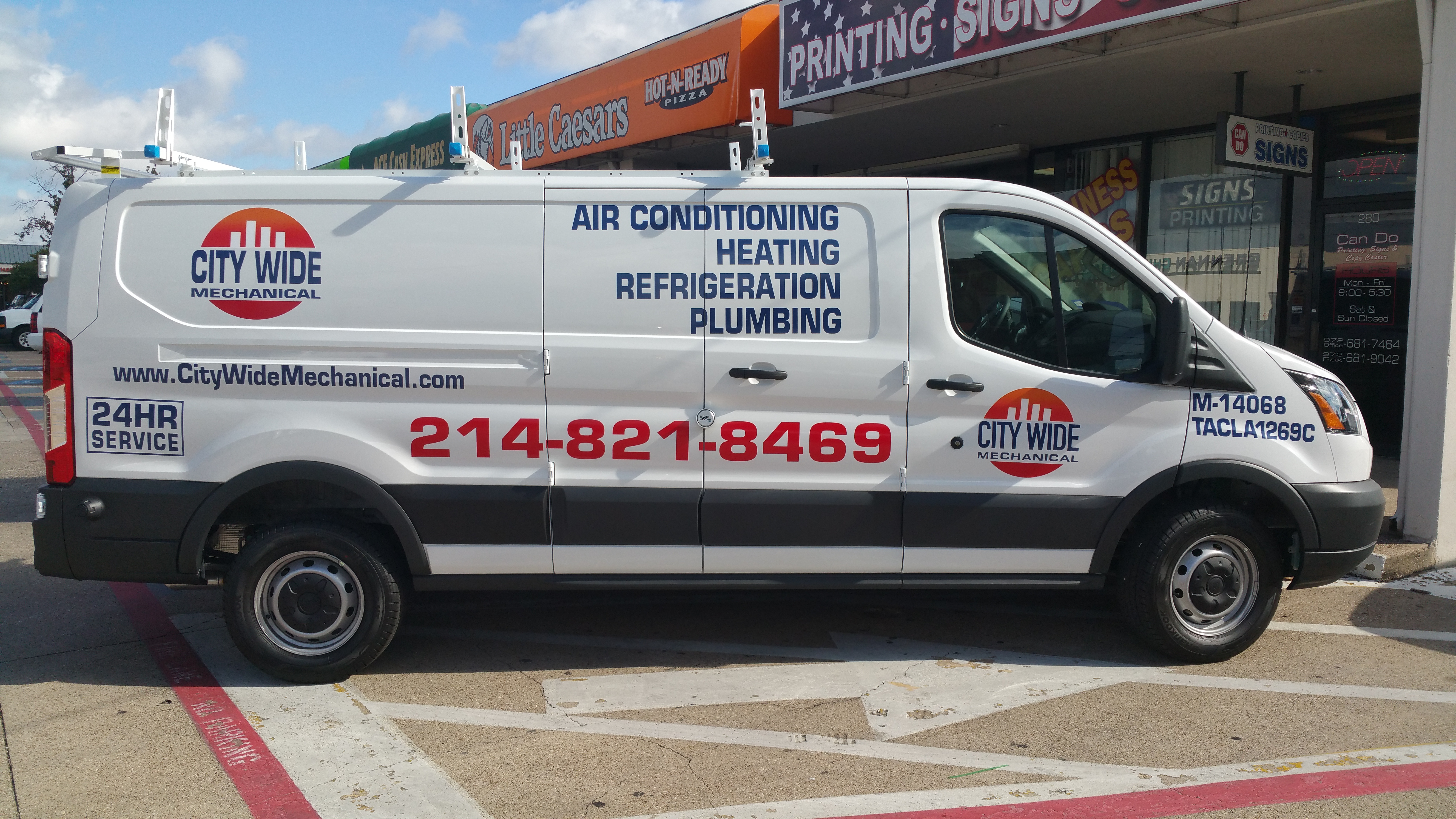 Vinyl Lettering with Full Color Logo
