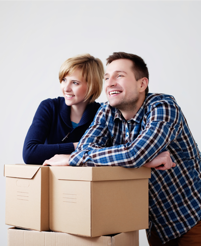 Couple with Moving Boxes||||