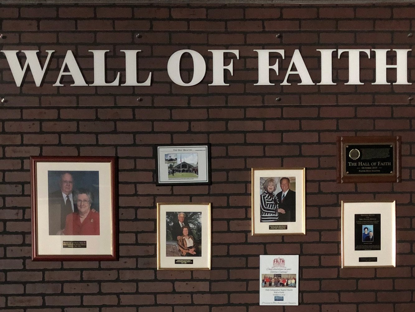 Wall of Faith in the Hall of Faith