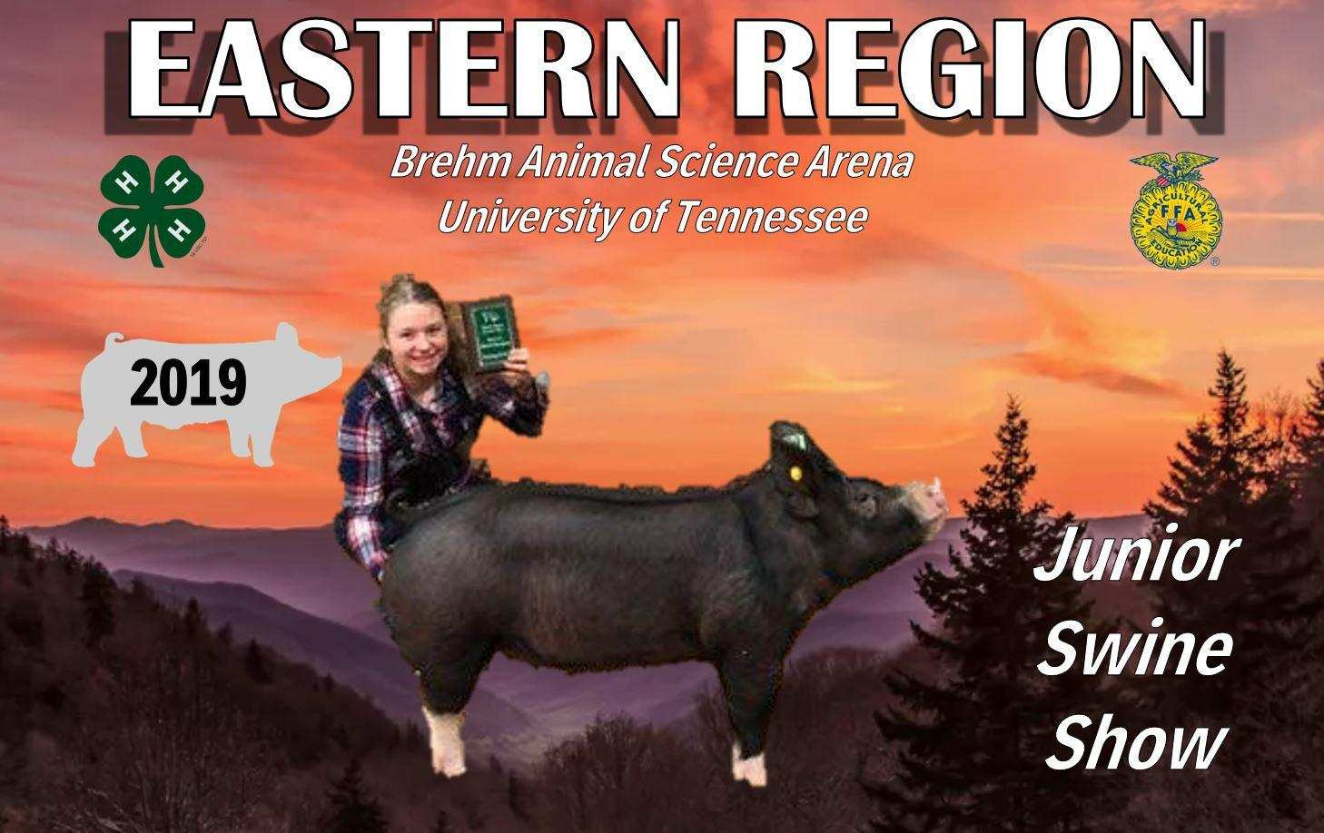 Abigail Henry 2019 Tennessee Eastern Region Show Reserve Champion Berkshire