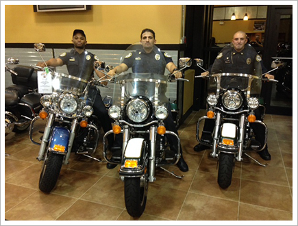 Security staff on Harley||||