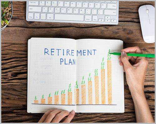 Having a Retirement plan- Concept