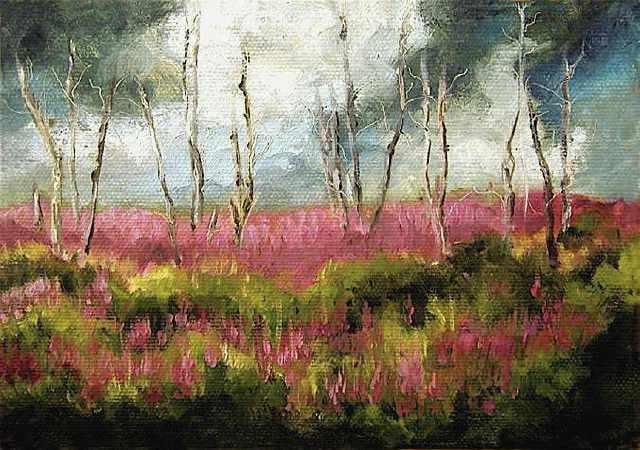 "Saratoga Bog - 5""x 7"" Oil on Stretched Canvas"