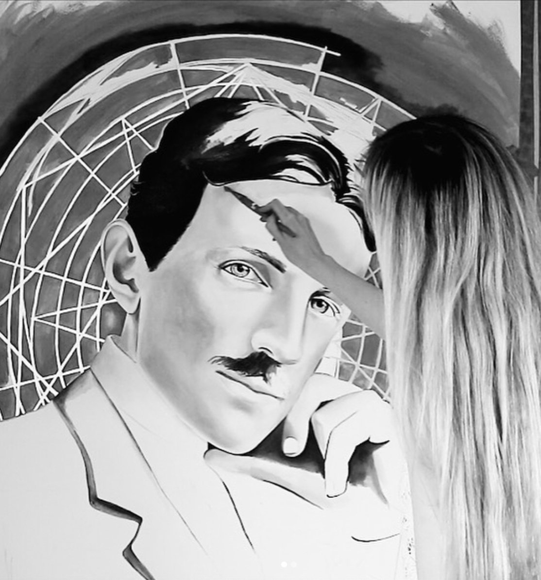 Nikola Tesla, work in progress, 2018.