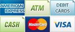 We accept American Express, ATM/Debit, Cash, MasterCard and Visa.||||