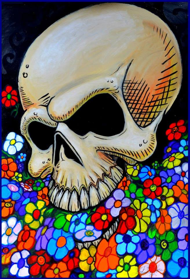 Flower Skull (unframed)