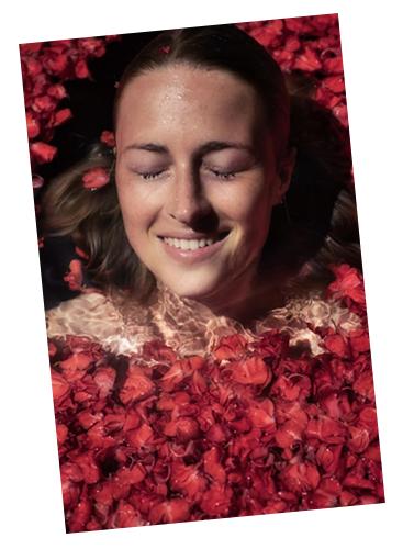 Smiling rose water
