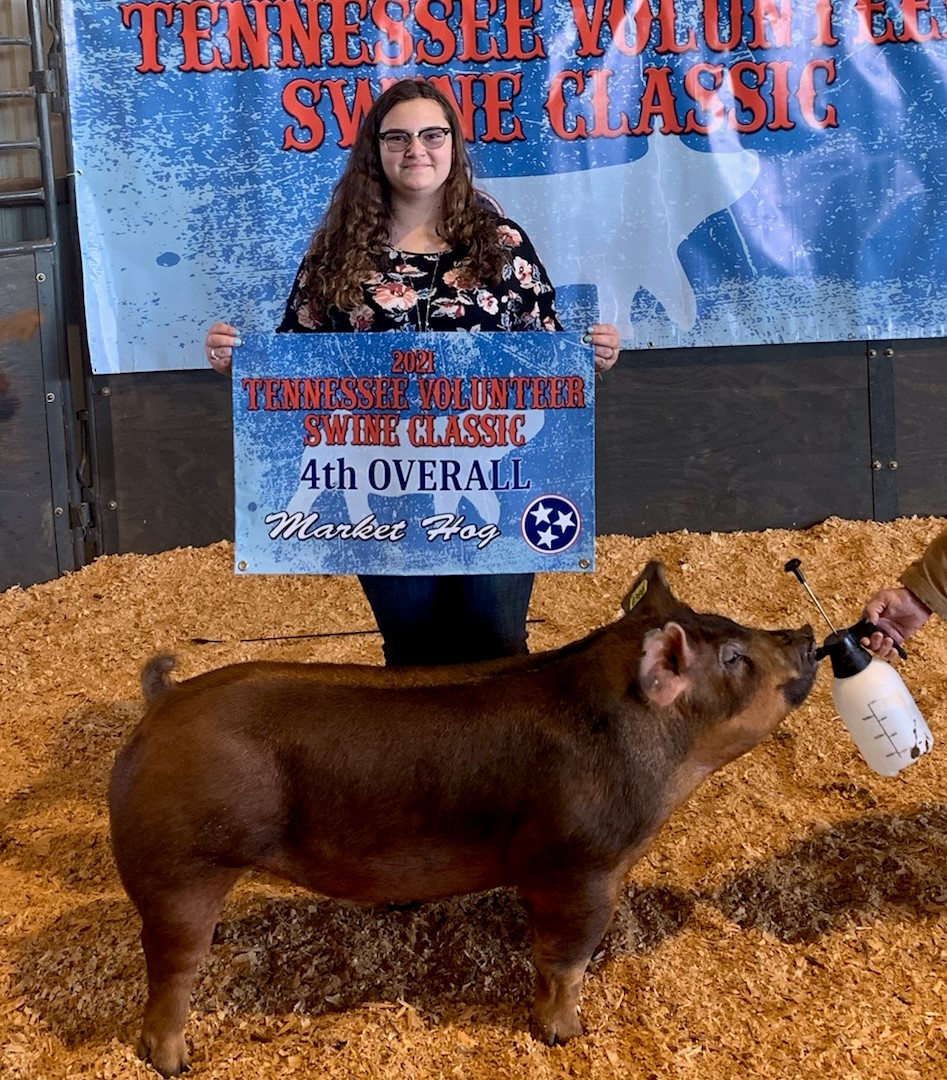 Alexis Mears 4th Overall Market Hog 2021 TN Volunteer State Classic