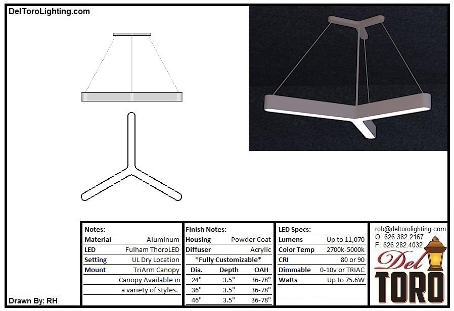 016P-TriArm Pendant