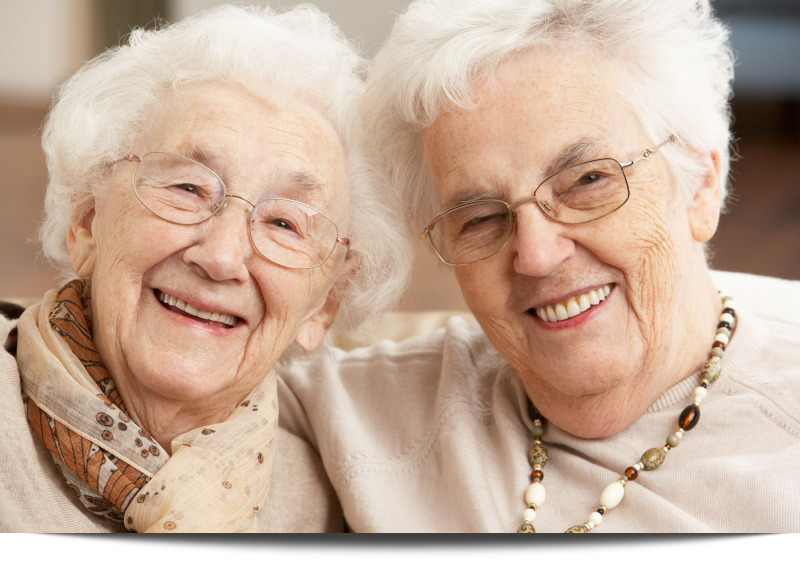 Two Senior Women Friends Care Center||||