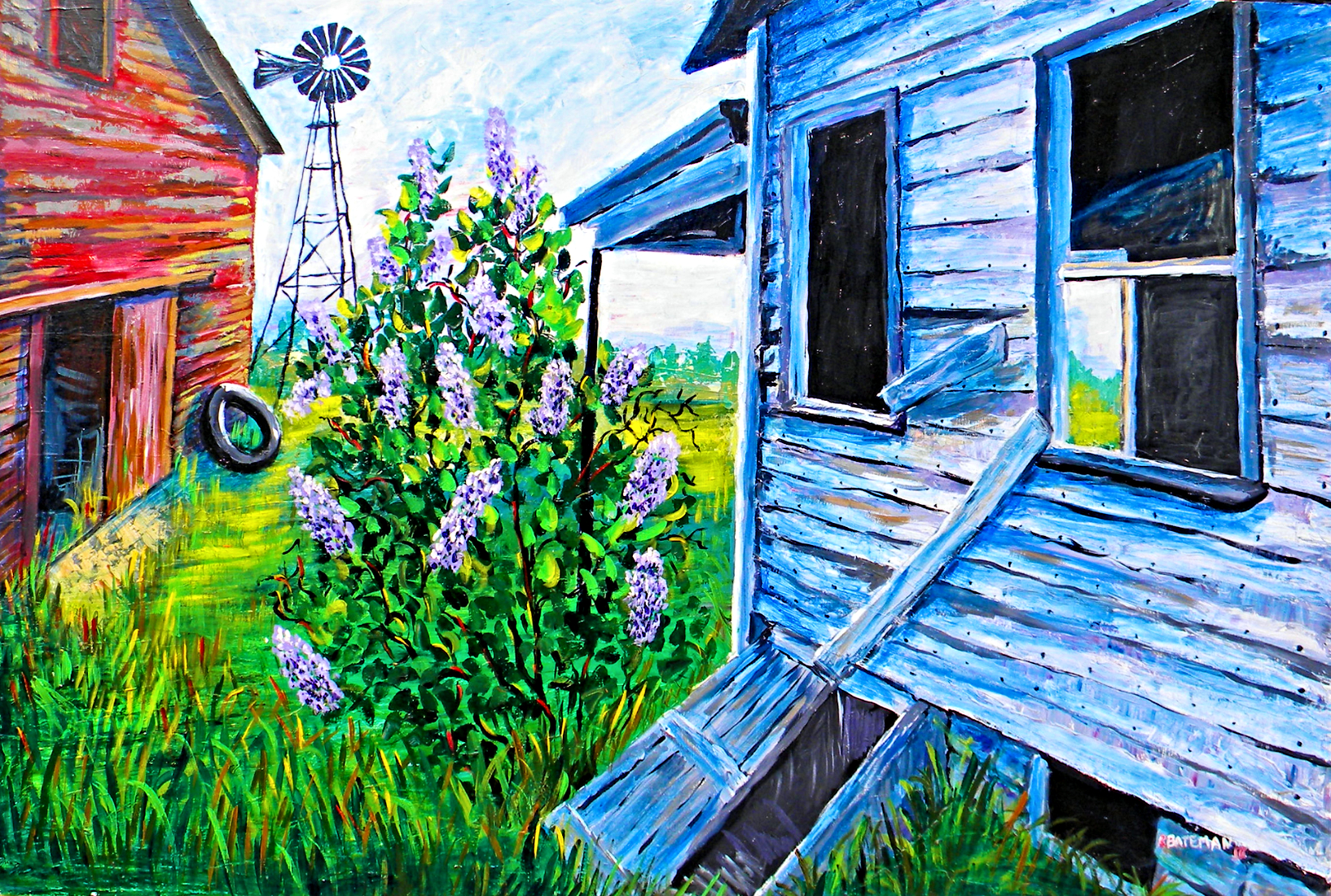 THE OLD FARM 48x72