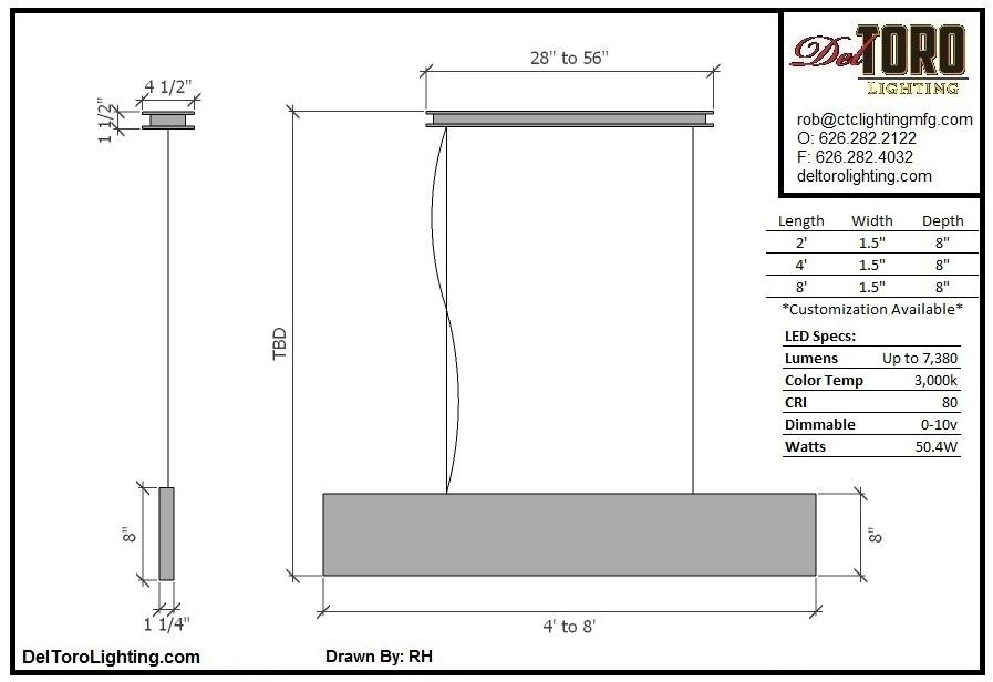 300P-Plank Pendant