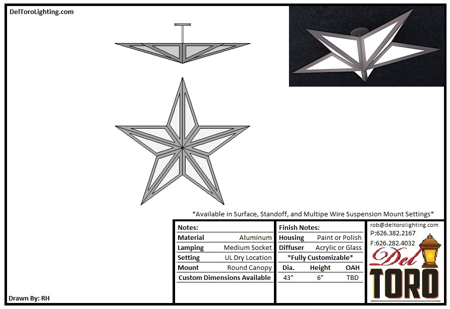 209P-5 Point Star Pendant