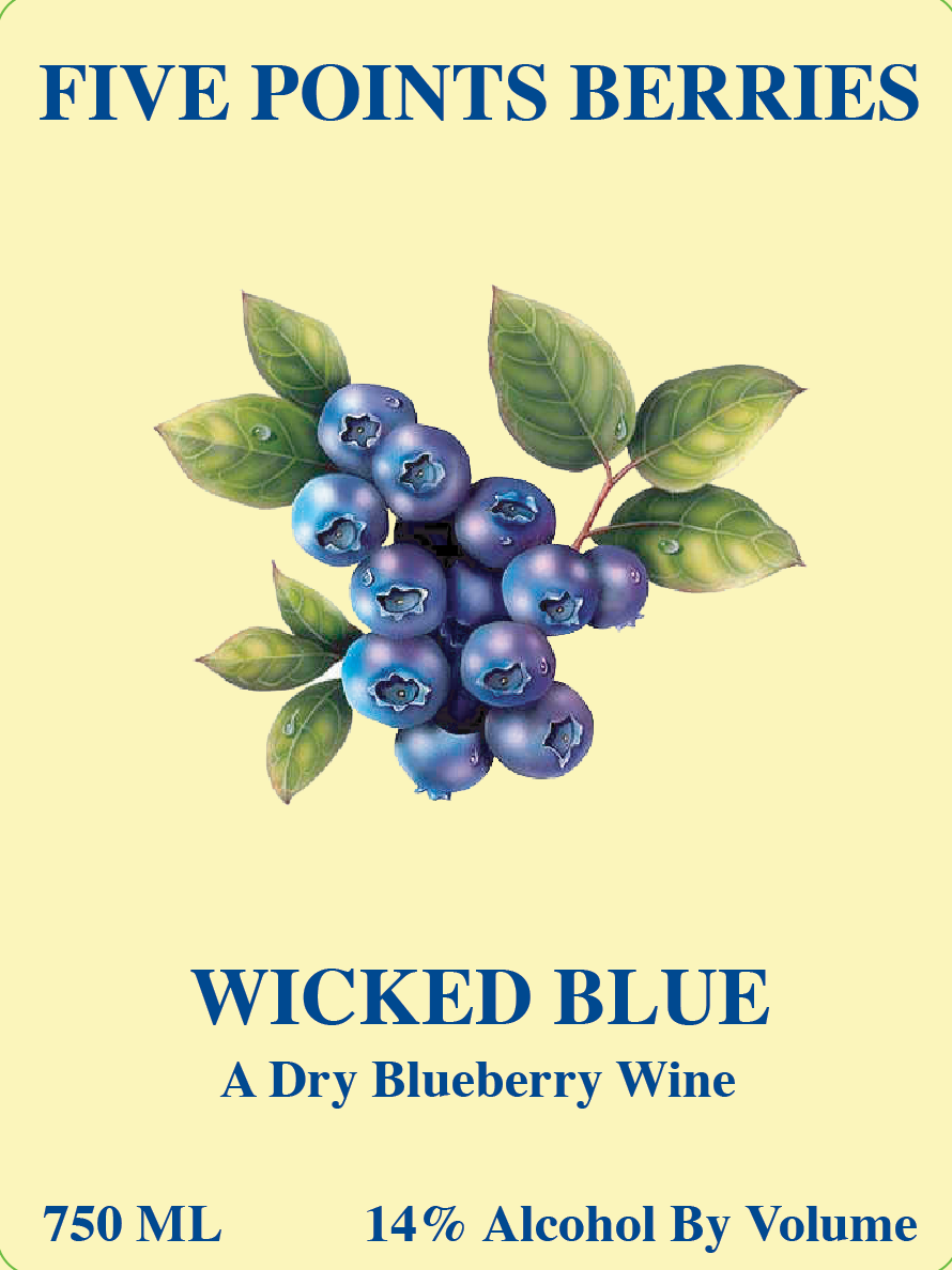 Wild Blue Yonder Wine Bottle