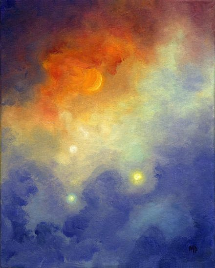 """Galaxy ~ 8"""" x 10"""" Oil on Stretched Canvas  SOLD"""