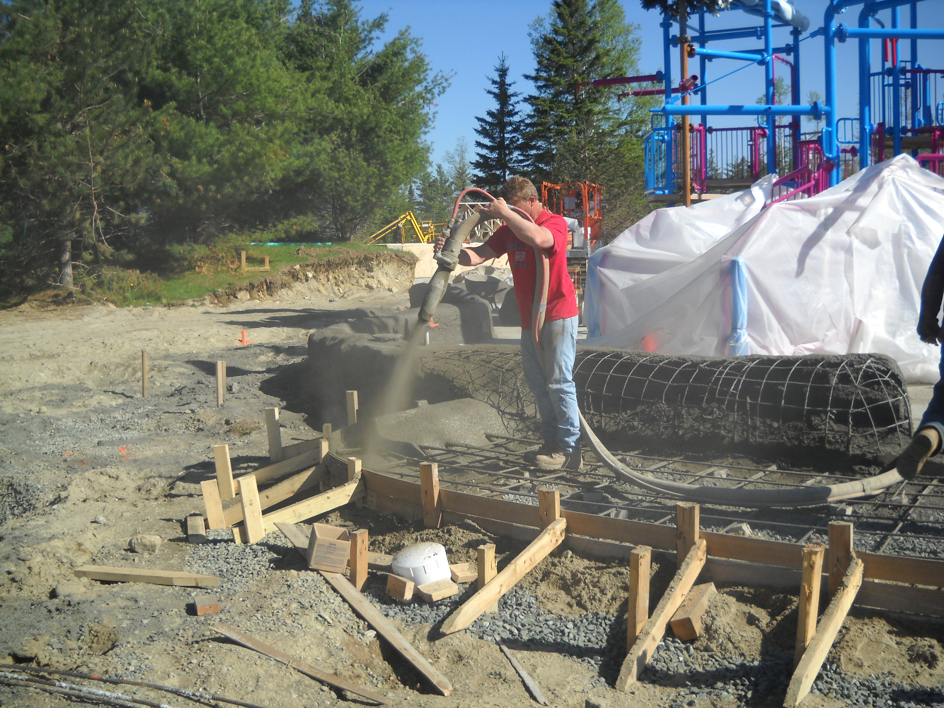 Gunite Construction at Santa's Village