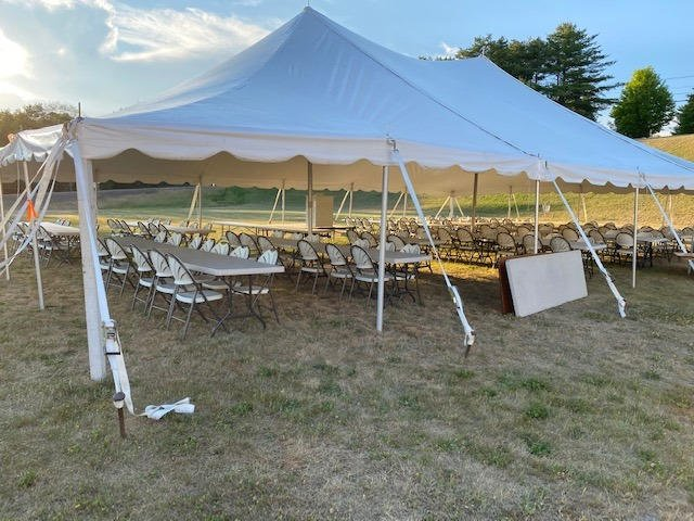 June 2020 Ready for our tent service