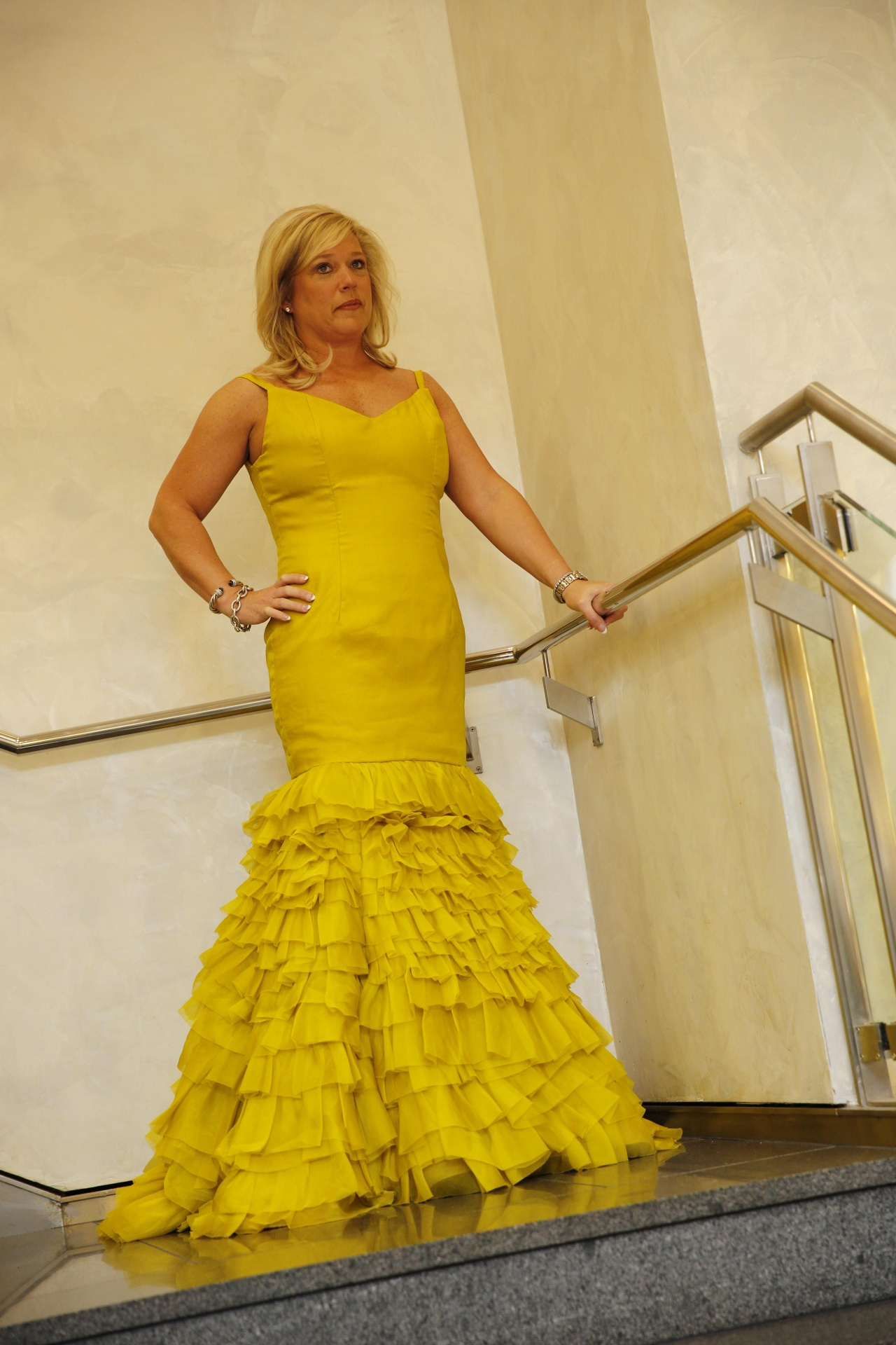 Beautiful Yellow Gown By Harold Clarke