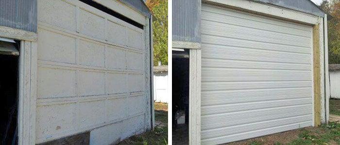 Before Garage Repair And After Garage Repair
