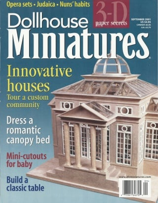 September 2001 Dollhouse Miniatures Magazine