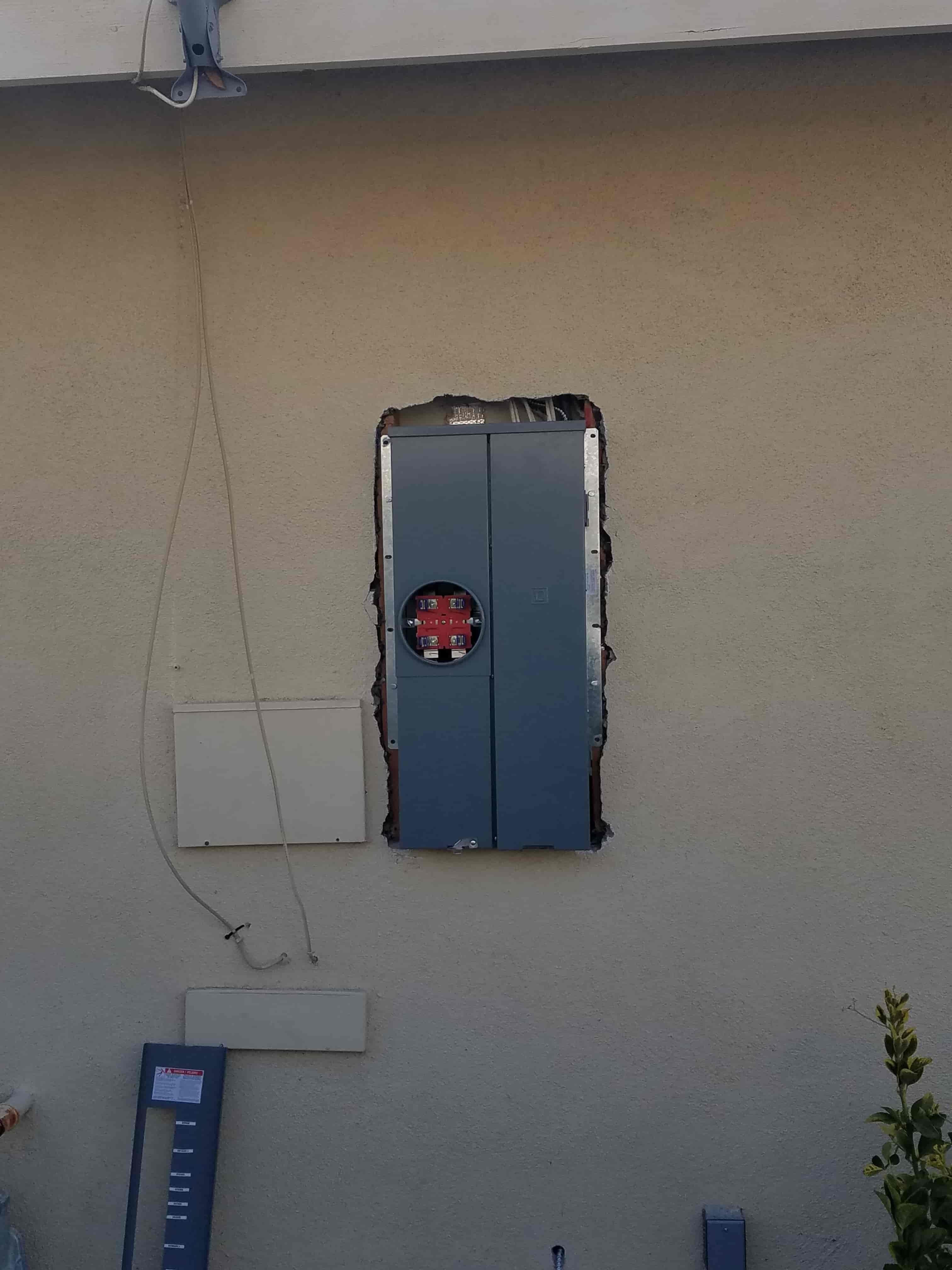 New Electric Meter Box
