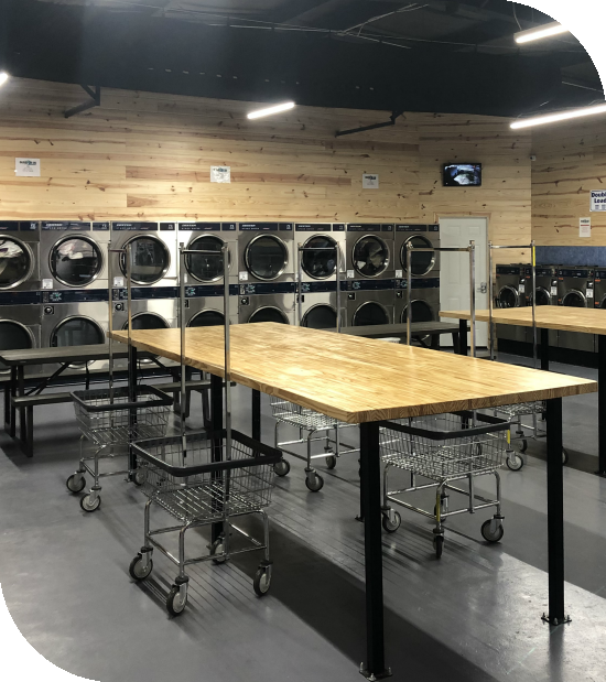 Coin Laundromat Interior